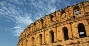 Coliseo romano - EL-Jem, Túnez Imagen de archivo libre de regalías