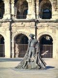 Coliseo romano - Nimes, Francia Imagen de archivo libre de regalías