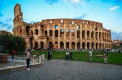 Coliseu antigo Colosseum em Roma, Itália fotos de stock