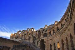 Coliseu do EL Jem Tunisia Amphitheatre antigo foto de stock