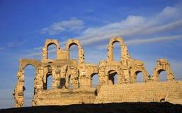 Coliseu do EL Jem Tunisia Amphitheatre antigo fotos de stock royalty free