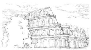 Coliseu, Itália ilustração royalty free