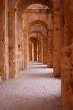 Coliseu romano em África - EL-Jem fotografia de stock