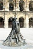 Coliseu romano - Nimes, France Imagens de Stock