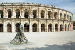Coliseu romano - Nimes, France fotografia de stock royalty free