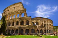 The Coliseum. Its original name, Flavian Amphitheatre Stock Photo