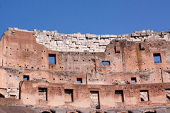 Coliseum. A Coloseum ruins and blue sky in Rome Royalty Free Stock Images