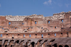Coliseum. A Coloseum ruins and blue sky in Rome Royalty Free Stock Photos