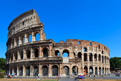 The Coliseum. View of ancient rome coliseum ruins. Italy. Rome Royalty Free Stock Photos