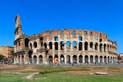 The Coliseum. View of ancient rome coliseum ruins. Italy. Rome Royalty Free Stock Photo