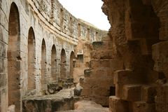 Coliseum. Tunisian coliseum ruins Stock Photography