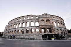 Coliseum. Ancient coliseum in Pula, Croatia Stock Images