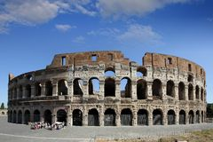 The Coliseum. Of Rome: back side area Royalty Free Stock Photography