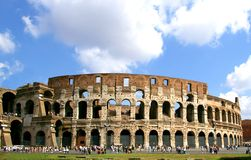 Coliseum. The roman coliseum and cloudy sky Royalty Free Stock Photos