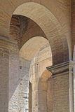 Coliseum arch. Image taken of detail of ancient Roman coliseum arch made of stone Royalty Free Stock Photo