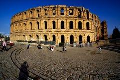 Coliseum av el-jem royaltyfri foto