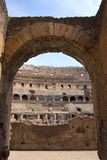 Coliseum binnen royalty-vrije stock fotografie