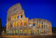 Coliseum- & blåtttimme arkivfoto