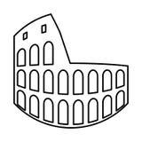Coliseum it is black icon . Stock Photos