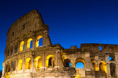 Coliseum during the blue hour Royalty Free Stock Photos