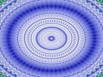 Coliseum in blue. Ornate wavy ovals in shades of blue and white going from outside to centre royalty free illustration