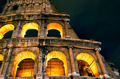 Coliseum (Colosseum) at night in Rome Royalty Free Stock Photography