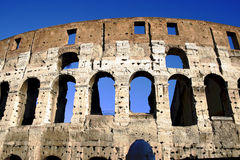 Coliseum columns in Rome,Italy Royalty Free Stock Photography