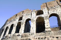 Coliseum columns in Rome,Italy Stock Photo