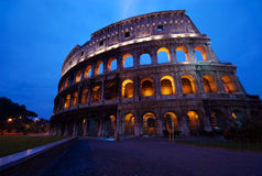 Coliseum at dawn, Rome, Italy Stock Photo