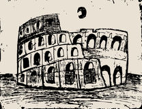 Coliseum doodle Royalty Free Stock Images