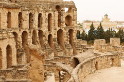 Coliseum in El Jem Stock Photography