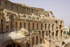 Coliseum in El-Jem, Tunisia, Africa Stock Image