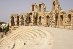 Coliseum in El-Jem, Tunisia, Africa Royalty Free Stock Photography
