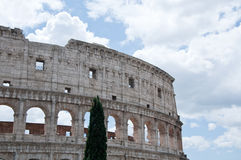 The coliseum especially during a cloudy day. Italy Stock Images