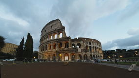 Coliseum evening stock footage