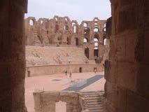 Coliseum för El Djem Arkivfoton