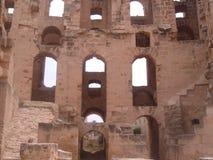 Coliseum för El Djem Royaltyfri Bild