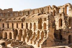 Coliseum in Gr Djem royalty-vrije stock foto's