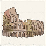 Coliseum hand drawn vector. For your ideas Royalty Free Stock Image