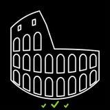 Coliseum het is wit pictogram Stock Foto's