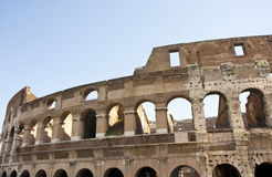 Coliseum with Historical Plaque Royalty Free Stock Photos
