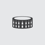 Coliseum icon in a flat design in black color. Vector illustration eps10 Stock Photos