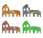 Coliseum illustrated in watercolor Stock Photo