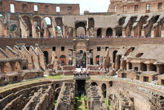 Coliseum indoor and visitor Royalty Free Stock Images
