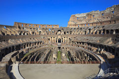 Coliseum inside, Italy, Rome. The Colosseum, the world famous landmark in Rome Royalty Free Stock Image