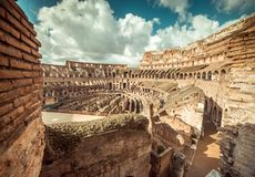 Coliseum interior Stock Image