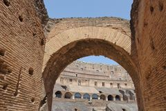 Coliseum interior Royalty Free Stock Images