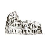 coliseum Italien dragningar Royaltyfri Bild