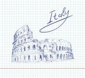 coliseum Italien dragningar Royaltyfri Foto