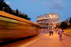 Coliseum in Itally Rome. Evening Stock Photo